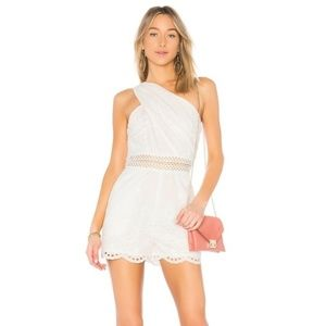 Endless Rose Eyelet Romper Shorts Lace NWT Large